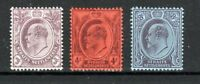 Malaysia - Straits Settlements 1903-04 values to 8c MH