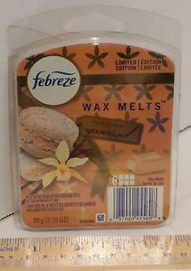 Febreze Limited Edition Wax Melts, Fresh Baked Vanilla Scent, Package of 6 Melts