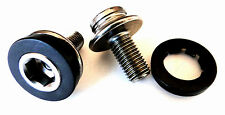 Bicycle square taper JIS crank spindle bolts (PAIR) M8 X 1.0 X 15mm CHROME