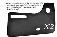 GREY STITCH 2X DOOR CARDS LEATHER SKIN COVERS FITS VW T2 WESTFALIA CAMPER