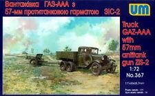UM 1/72 367 WWII Soviet Red Army Gaz-AAA Truck w/Zis-2 57mm D2 AT Gun
