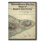 55 Historic Revolutionary War Maps of Boston Massachusetts MA on  CD - B59