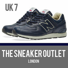 Men's New Balance 576 CNN UK Size 7 Navy Leather Trainers Made in England