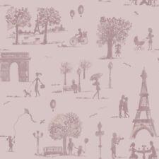 Gli ALBERI Lilla Carta Da Parati Parigi Francese Toile PARISIENNE foto Holden Decor