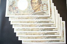 JOLI  BILLETS 200  FRS MONTESQUIEU  1981  RARE  ALPH. DIFF.!!!(achat unitaire)