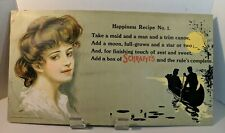 Large Antique Victorian Advertising poster 1908 SCHRAFTS Boston Candy 20x11 NICE