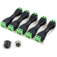 20 x 12V DC Female Male Power Connector Adapter Plug Jack Socket For CCTV Cable