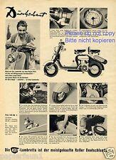 NSU Lambretta Scooter XL la pubblicità di 1952 pubblicità ad