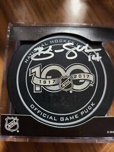 Brendan Shanahan signed NHL 100th Anniversary Puck Detroit Red Wings