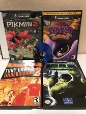 Nintendo GameCube Lot Pikmin 2 Spyro Dragonfly Tony Hawk Hulk Time Splitters 2