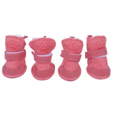2 Pair Pink Nonslip Sole Booties Pet Dog Chihuahua Shoes Boots XS AD