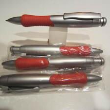 """4 TERZETTI MODEL """"LRG GRIP"""" LARGE BARREL RED/CT PLASTIC PENS-RUBBERIZED GRIP"""