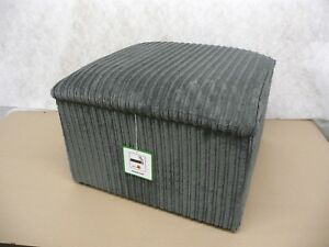 """Footstool With Storage In A Grey Jumbo Cord 20"""" x 20"""" x 14"""" High"""