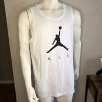 Nike Jordan Basketball Muscle Shirt Tank White CJ0911-100 Mens Size XL