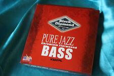 Black Diamond Pure Jazz Chromium Flatwound Electric Bass String Set, MPN 300ML