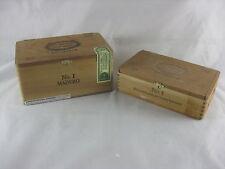 Pair Of Hoyo Monterrey Excalibur No.1 Cedar Wood Cigar Boxes 10ct & 20ct Empty
