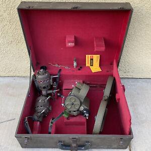 Bell & Howell Filmo 70-KRM-1 Military Movie Camera W/ 2 Motors, Magazine & Case