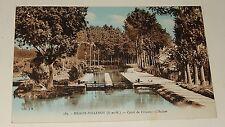 Carte Postale MEAUX-VILLENOY : Canal de l'OURCQ - L'Ecluse - Carte colorisée
