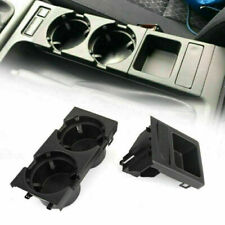 Black Center Console Storing Coin Holder + Cup Holders For BMW E46 51168217953 U(Fits: M3)