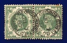 More details for 1887 sg211 1s dull green k40(1) pair george st thimble ju 7 87 gu cat £160 coxq
