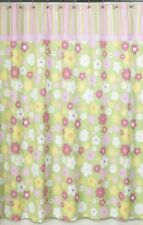 BLOSSOM FLOWERS FLORAL PINK GREEN BATH FABRIC SHOWER CURTAIN SWEET JOJO DESIGNS