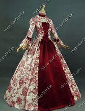 Renaissance Antique Floral Fancy Dress Gown Vampire Halloween Costume N 138 L