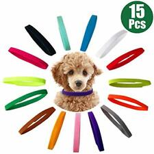 Ttsam 15 Pcs Puppy Id Collars 15 Colors Puppy Whelping Collars Double-Sided
