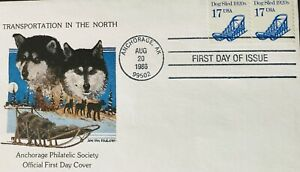 First Day Issue US 1986 17c Dog Sled Transportation In The North