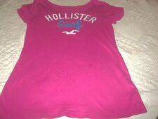 HOLLISTER PINK Surf T-shirt Top Size Junior M NO COLLAR B 34 L 26
