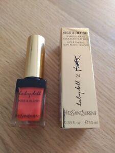 YSL Yves Saint Laurent Babydoll Kiss & Blush # 24 Orange Intrepide