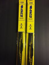 "2x 26"" ANCO 31-26 WINDSHIELD WIPER BLADE 31 SERIES 26"" BLACK METAL FRAME"