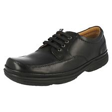 29c5507bcad MENS CLARKS SWIFT MILE BLACK LEATHER FIT H   EXTRA WIDE