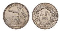s662) SVIZZERA - Confederazione - 5 Franchi 1874