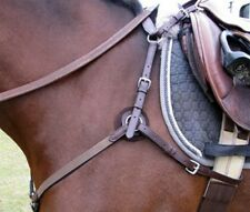 5 Way Hunt Breastplate with Elastic Horse Size Havana with stainless steel