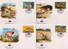 Senegal 1986 World Wildlife Fund - Dama Gazelle - 4 First Day Covers - (93)