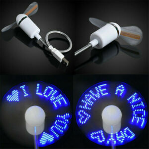 USB LED CLOCK ADJUSTABLE FLEXIBLE GOOSENECK COOL FAN LAPTOP MINI DESK Hidtop new