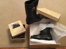 Michael Kors  rain boots and matching boot cuff sock inserts