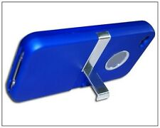 Deluxe Hard Case With Chrome Stand For iPhone 4 4G