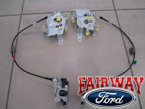 97 thru 03 F-150 OEM Ford Rear Door Lower Latch Extended Super Cab RH & LH PAIR