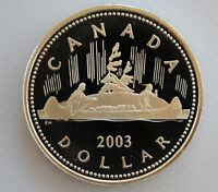 2003 CANADA CORONATION COMMEMORATIVE PROOF 99.99% SILVER DOLLAR COIN AND COA