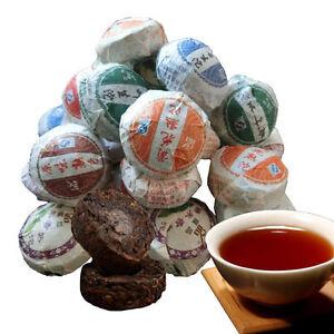 50g 10Pcs Pu-erh Tea China Top-grade Black Cooked Puerh Tuocha Slimming Mini Tea