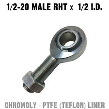 Chromoly PTFE Heim Joint 1/2 x 1/2 Male RHT Custom Fabrication Spherical Rod End