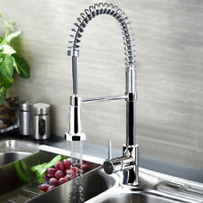 360° Swivel Pull Out Spray Taps Mixer Kitchen Sink Mixing Tap Spring Neck Chrome
