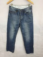 Mens Jeans Denim Blue Rinse Button  Fly French Connection Size W30 Regular