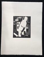 Heinrich Stegemann, weiblicher geneigter Kopf, Holzdruck aus dem Nachlass, 1996