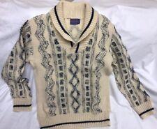 Unique Vintage Pendleton M Sweater Shawl Collar Mens Virgin Wool