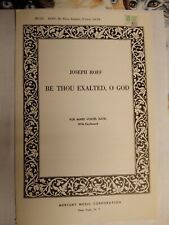 Church Choral Sheet Music: Be Thou Exalted, O God (Roff) 10 Copies Satb