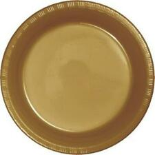 "Gold 7"" Plastic Desert Plates 20 Per Pack Gold Decorations & Party Supplies"