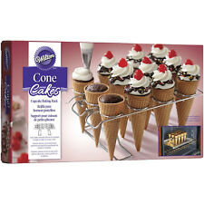 Wilton 12 Cavity Cupcake Cone Cake Baking Icing Decorating Ice Cream Party Rack