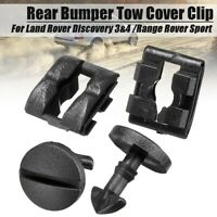 4X Rear Bumper Tow Cover Clip Towing Eye Trim For Land Rover Discovery 3 4 NEW
